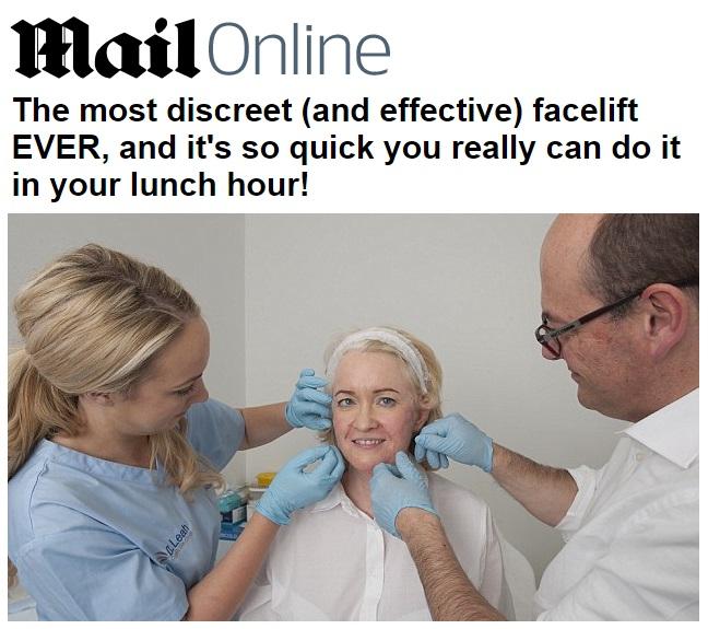 הכתבה על מתיחת פנים בחוטים בדיילי מייל ( לחצו למעבר)